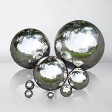 Блестящий блестящий шар из нержавеющей стали, зеркальный полый шар, товары для украшения дома и сада, украшение 19 мм~ 120 мм