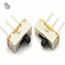 цена на Interruptor on-off mini 1 Way 2 Band Slide Switch PCB Mount SS12d00G4 # DSC0039