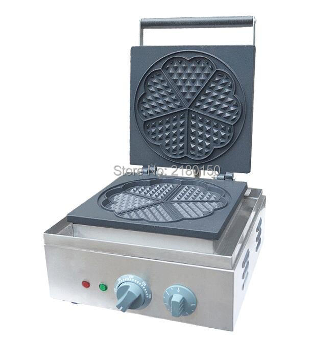 Electric Heart Shape Mould Waffle Maker Mini Plaid Cake Making Machine Furnace Heating Machine FY-215