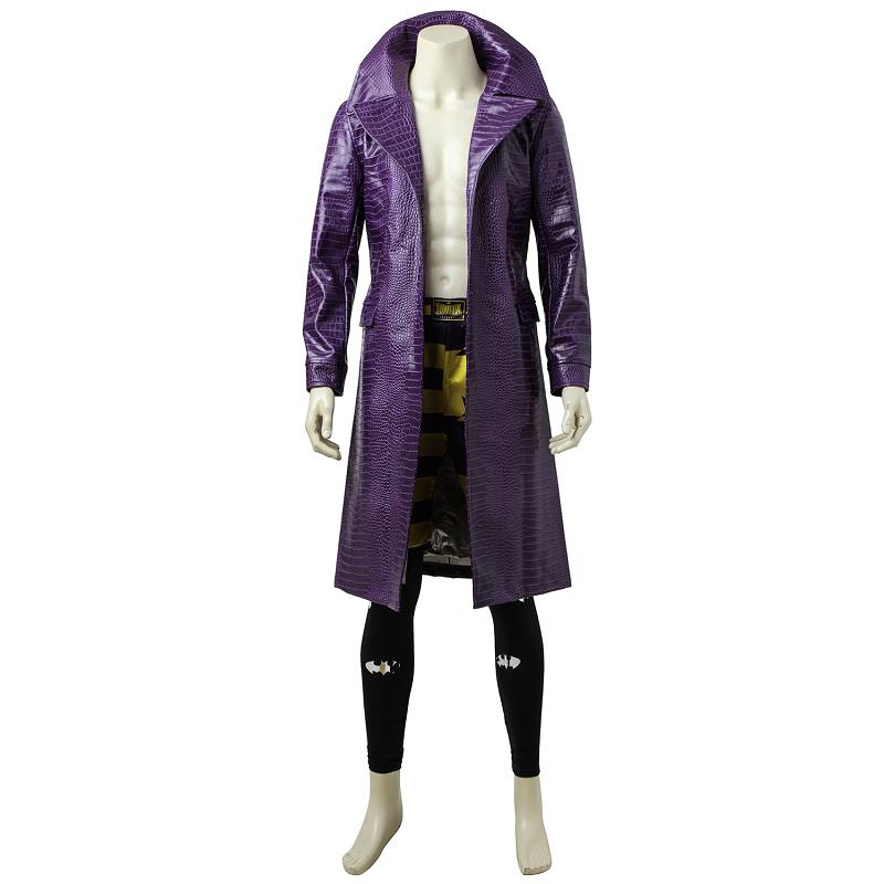 The Joker Villain Cosplay Costume Outfit Suit Coat Jacket Batman Costume Outfit Adult Men Halloween Carnival Party Custom Made