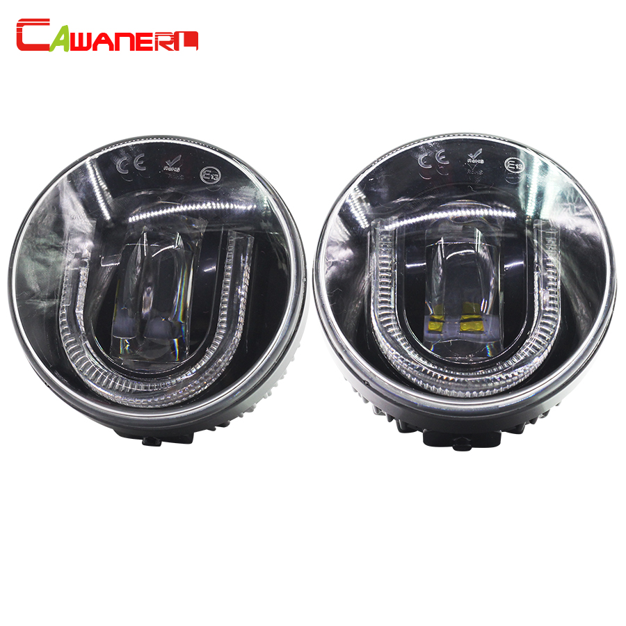Cawanerl For Ford Transit Tourneo Connect Ranger Car LED Fog Light DRL Daytime Running Lamp 12V 1 Pair