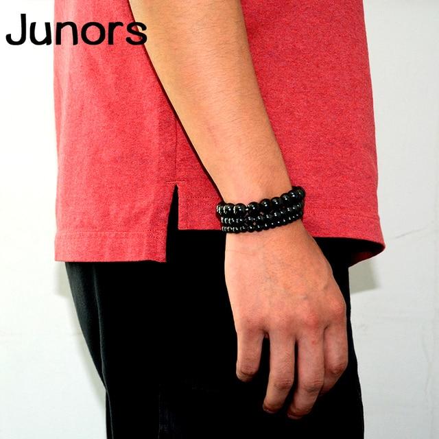 Multilayer Magnet charms slimming health men bracelet Magnet Black Stone beads Magnetic Bracelets for Women Weight Loss Gifts 3