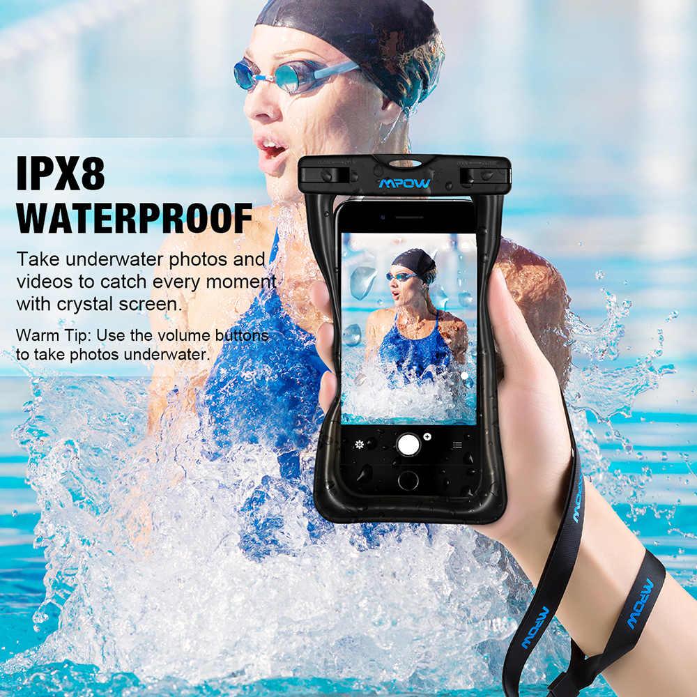Mpow IPX8 Водонепроницаемый сумка Универсальный 6,5 дюймовый мобильный телефон сумка Плавание случае сфотографировать под водой для iPhone X samsung huawei