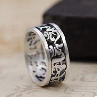mens rings silver 925 ring big rings for women