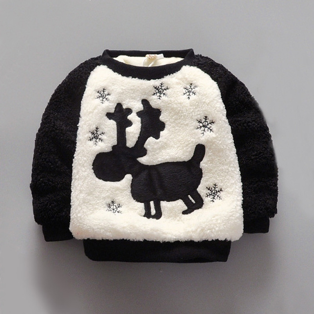 Children sweater winter explosion paragraph boys and girls thick plush coat baby base sweater