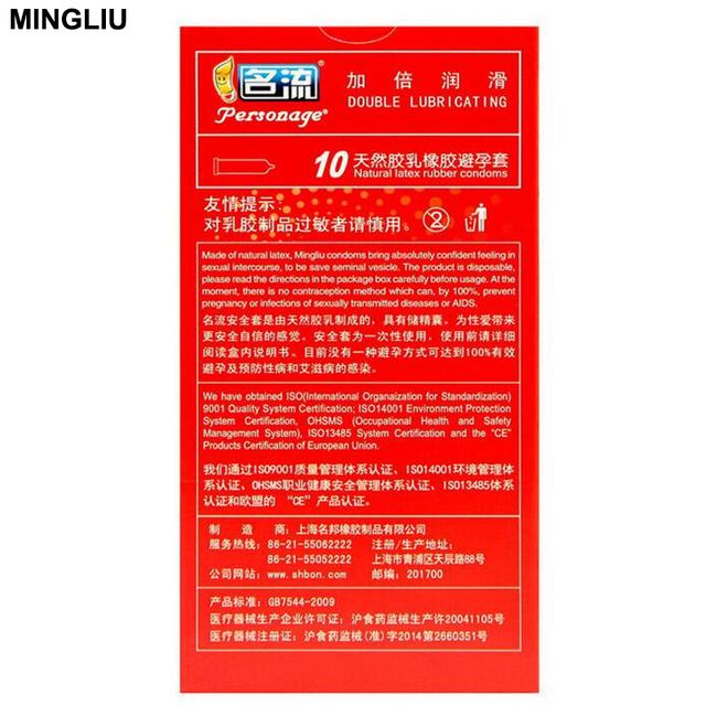 MINGLIU 10pcs/lot High quality natural latex Condoms for men Condom Penis sleeve Prezervatif Sex products Safer contraception