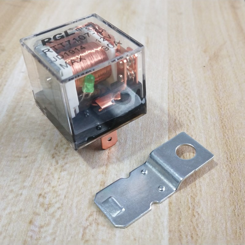 Transparent Case With Led Car Auto Relay 90a 5 Pins