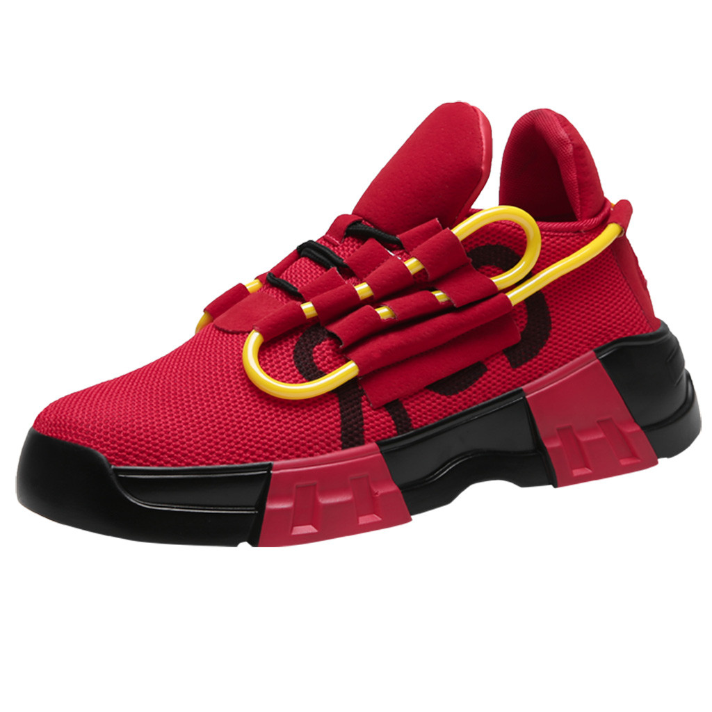 2019 printemps Vintage Sneakers hommes respirant confortable mode Jogging chaussures mode couleur correspondant Adulto Sneaker