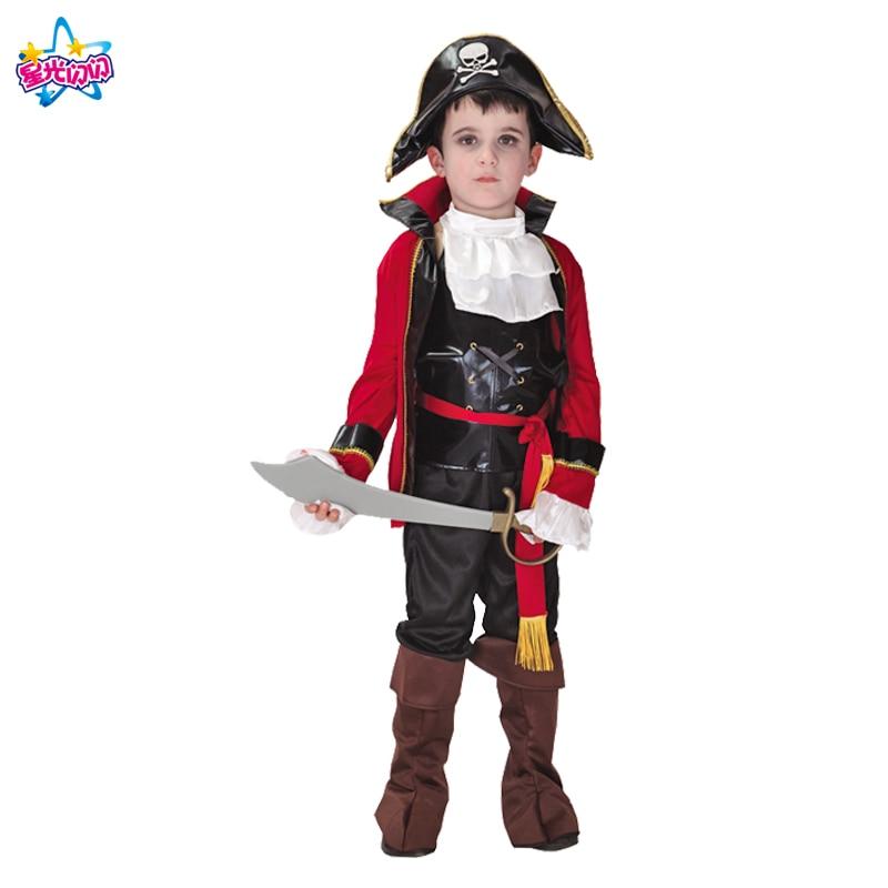Ilmainen toimitus Puku pojille Lapset Pirate Puvut Fantasia Infantil - Carnival puvut - Valokuva 4