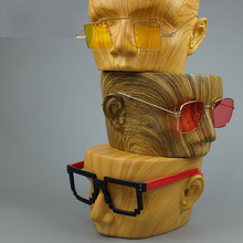 Fiberglass Imitation Wood Grain Mannequin Dummy Head For Sunglass Display,Manikin Heads,3 Colors