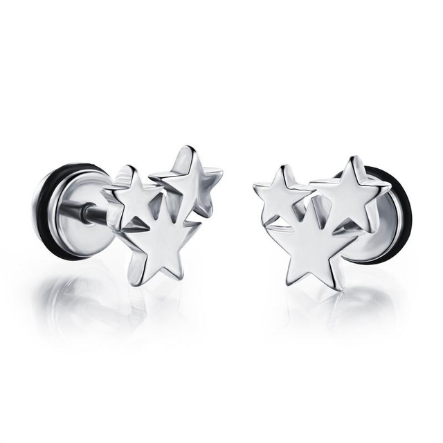 1 Pair Hip Hop Star Earring...
