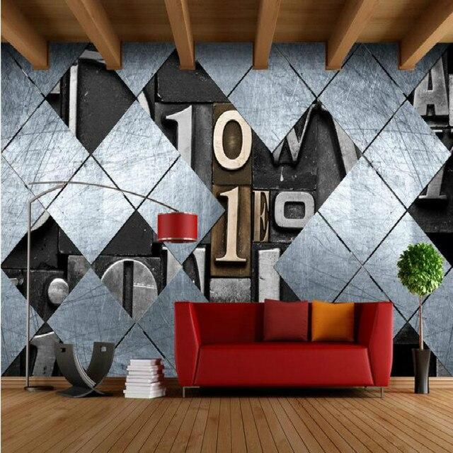 retro nostalgie industriellen wind 3d buchstaben gro e. Black Bedroom Furniture Sets. Home Design Ideas