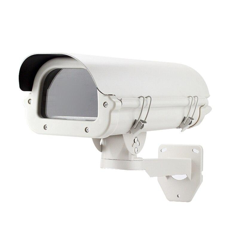 Bouclier pour boîtier de caméra CCTV | Avec support de ventilateur de chauffage, étanche aux intempéries
