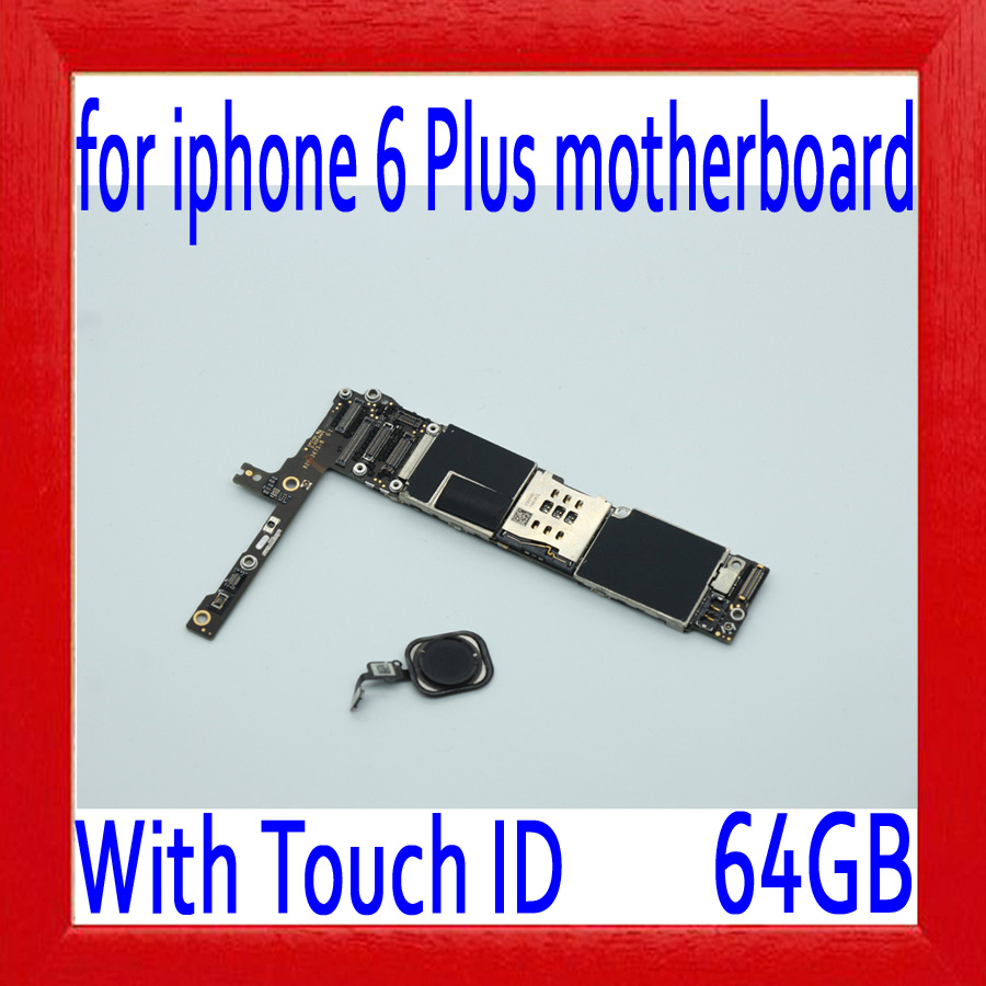 64gb Original unlocked for iphone 6 plus 5.5inch Motherboard with Touch ID,Black for iphone 6P Mainboard with Chips,Good Working