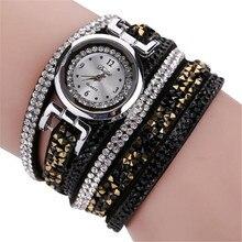 Relojes Mujer 2018 женские часы шик Алмаз кожаный браслет леди Женщины наручные часы подарок Relogio Feminino Dropship # D