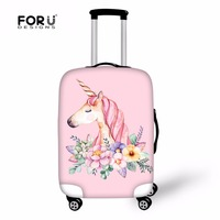 FORUDESIGNS Unicorn Travel Case Cover Suitcase Protective Covers For Trunk Cases Apply To 18 30 Suitcase