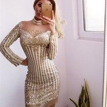 dd4a29f9ab Popular Turtleneck Gold Sequin Dress-Buy Cheap Turtleneck Gold ...