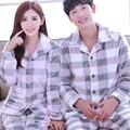 Casal Conjuntos de Pijama Outono Inverno Flanela Pijamas de Manga Longa Bonito Dos Desenhos Animados Quente Para Os Amantes Sleepwear Homewear Para Mulheres Dos Homens