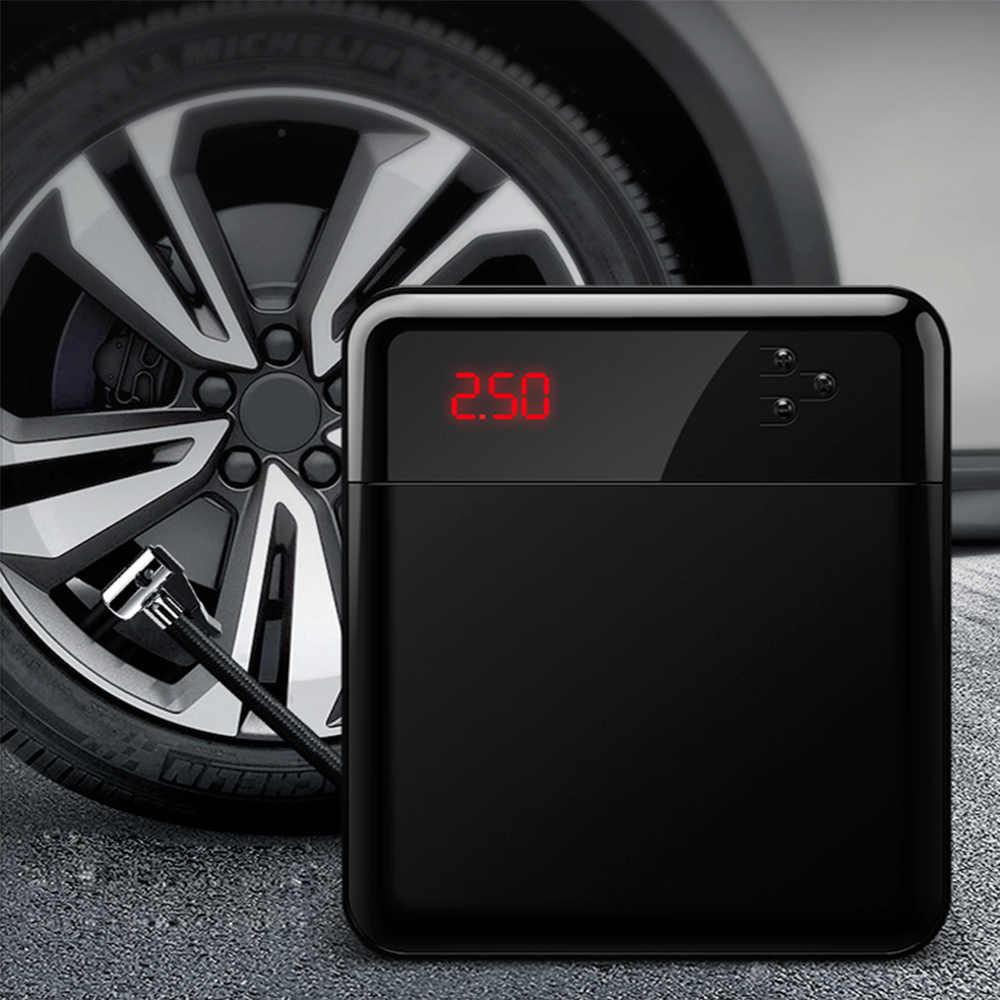 KKMOON auto compresor de aire cc 12V Inflador de neumáticos de bomba portátil con pantalla Digital LED de hasta 150PSI para coche bicicleta SUV barco