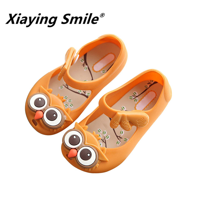 Xiaying Smile children Jelly shoes 2018 New Style Summer Owl Rubber bottom baby boys girls casual comfortable kids sandals