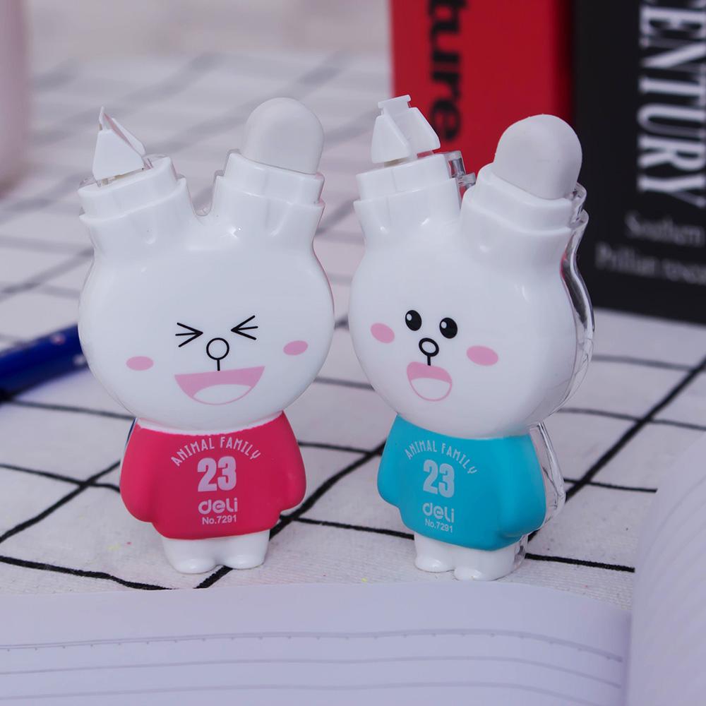 Correction With Cute Stationery Cartoon Rabbit Correction Belt Double Eraser Office Learning Correction Supplies