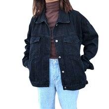 Boyfriend Loose Black Denim Jacket Women Coat 2020 Spring Autumn New Casual Over