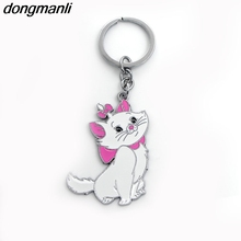 M1260 DMLSKY Marie Aristocats Cat alloy Key Chains Ring Gift For Women Girl Bag Charm Keychain Keyring Jewelry