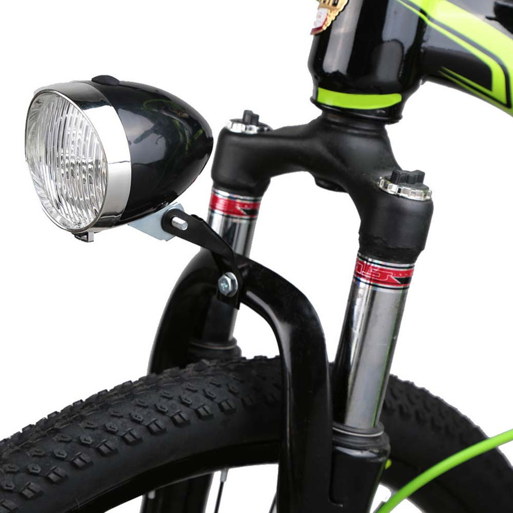 2017 Retro Bicycle Bike 3 Led Front Light Headlight