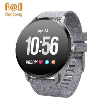 Rundoing V11 Smart watch IP67 waterproof Tempered glass Activity Fitness tracker Heart rate monitor BRIM Men women smartwatch new garmin watch 2019