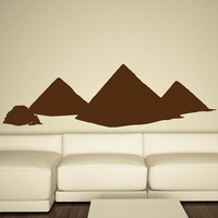 2015 New Style Self Adhesive Egyptian Pyramids Wall Sticker Home Decor PVC Waterproof For Living Room  Sofa Background