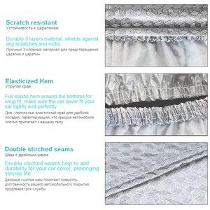 Image 3 - Buildremen2 Thick Car Cover 3 Layer Aluminum Foil + Polyester Taffeta + Cotton Waterproof Sun Rain Hail Resistant Auto Cover