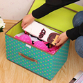 Portable Colorful Beauty Heart Patter Clothes Organizer Storage Box Clothing Pouch Holder Blanket Pillow Storage Box Large Size