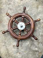 Nautical Ship Wheel, Pirate Captain 20 Brass/Wood Collectible Item for gift Decoration Crafts