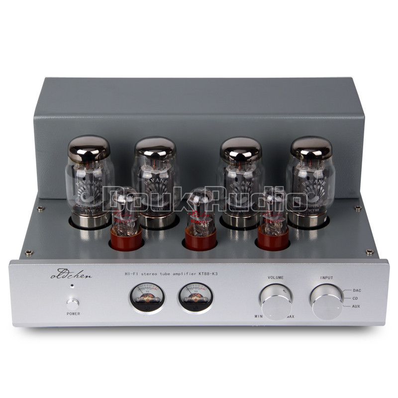 Douk Audio Hi-end 6N8P Push-pull KT88 HiFi Stereo Tube Amplifier Class A Large Power 45W*2 Desktop Amplifier music hall latest muzishare x7 push pull stereo kt88 valve tube integrated amplifier phono preamp 45w 2 power amp