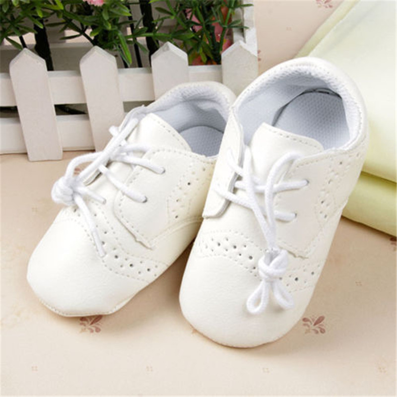 Baby Boy Girl First Walkers Toddler Infant Newborn Shoes Girls Lace-Up Brand PU Leather New 2015
