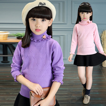 Female child sweater autumn child sweater autumn and winter children's clothing girls long-sleeve 8 2016 5-10-12 – 14