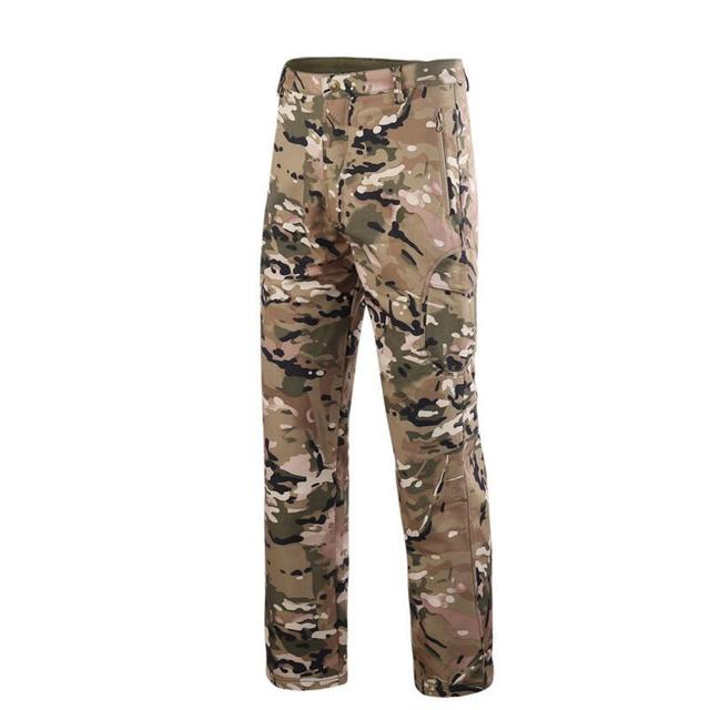 afa7b5bd21f56 Military Army Pant Shark Skin Outdoor Hiking Climbing CS Camouflage Hunting  Waterproof Windproof Men Fleece Trousers
