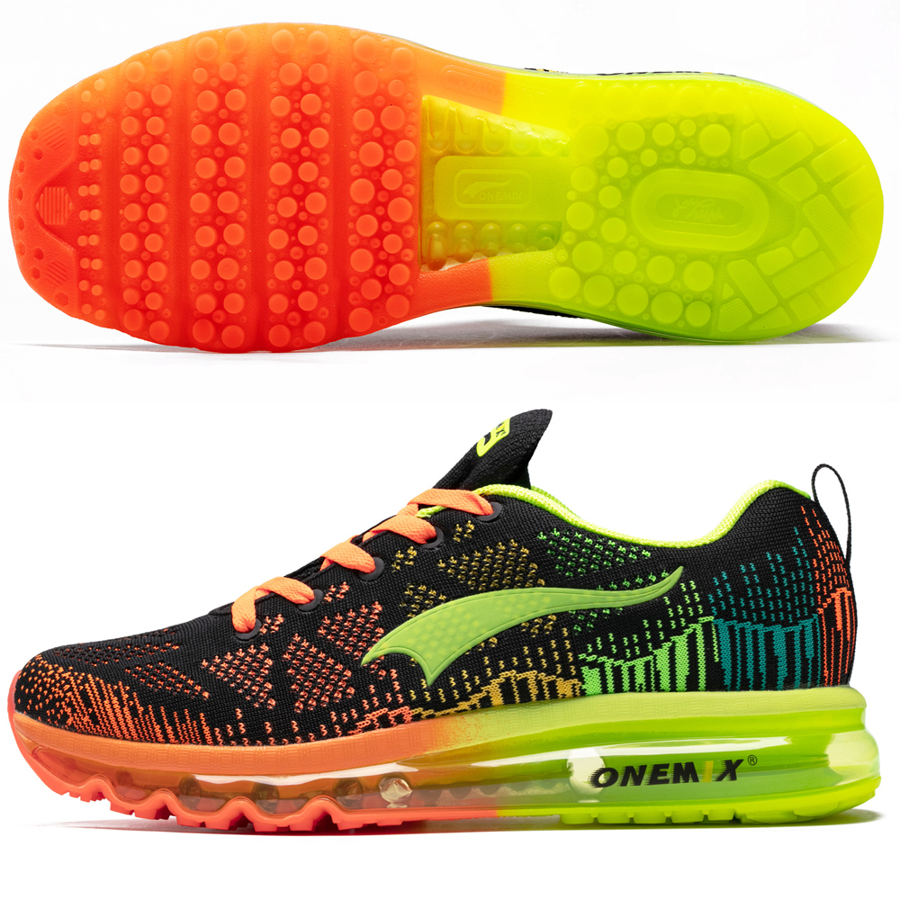 Image 4 - ONEMIX Men Running Shoes Women Air Knit Sneakers Light Outdoor Sport Shoes Air Cushion Althletic Shoes 2019 Newest-in Running Shoes from Sports & Entertainment on AliExpress