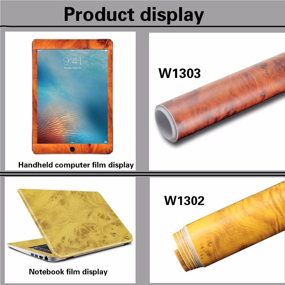 2 Pieces 100*30cm Automobiles Safe Door Central Control Panel Sticker Wood Grain Waterproof Change Color DIY Styling Wrap Roll
