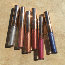 BEAUTY GLAZED Makeup 6 Colors In 1 Set Matte Shimmer Lip Gloss Lipstick for Eyes And Lips Easy To Wear Long-lasting Lip Gloss