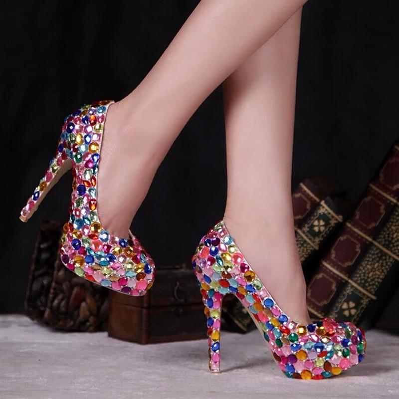 Promoción de Zapatos De Cristal De Diamante - Compra Zapatos De ...