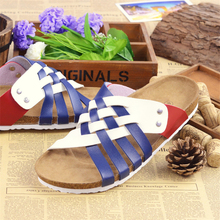 Summer Style Fashion Cork Lovers Slippers Big Size Casual Sandals Man Woman Beach Slippers Flats Male Shoes Women Slides