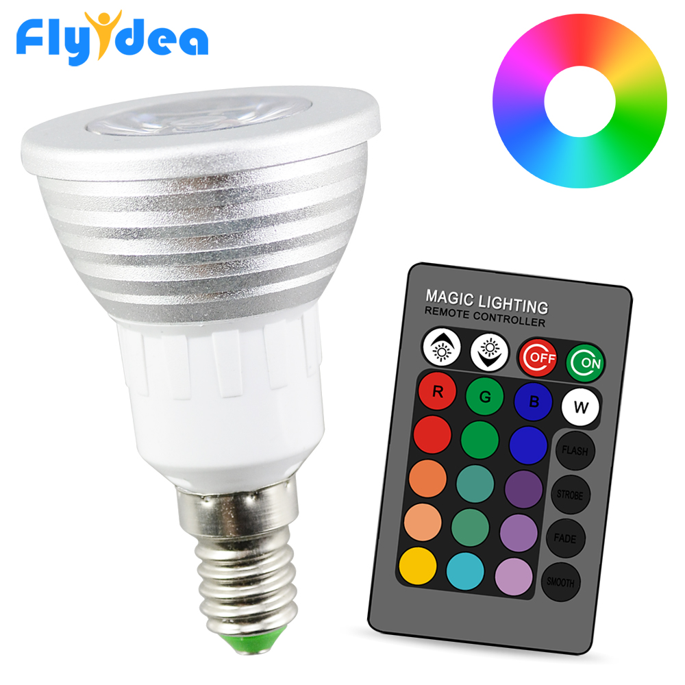 MR16 LED Spot Birne Glühbirne Leuchte Lampe 24 Key Fernbedienung Dimmbar RGB 3W