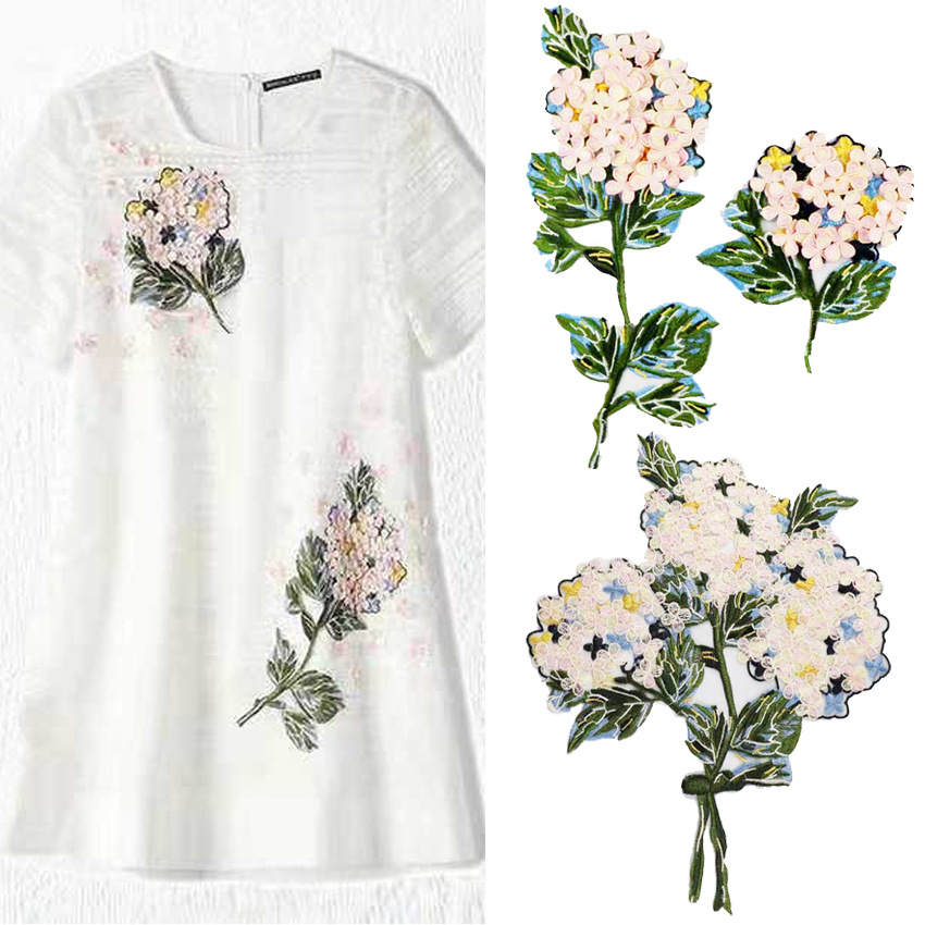 2019 New Fashion DIY Applique Water Soluble Embroidery  Costume Decoration Flower Patch  Colorful Decals  Accessories