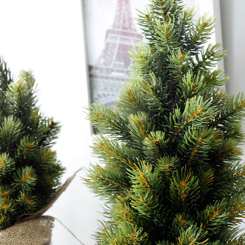 Christmas Vase Tree Set New Year Artificial Small Potted Pine Tree