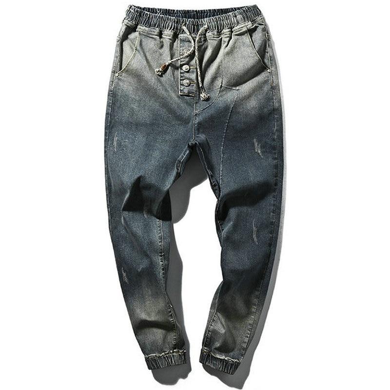 2017 Spring Hot Blue Popular Skinny Jeans Men Casual Slin Fit Ankle length Youths Mens Jogger