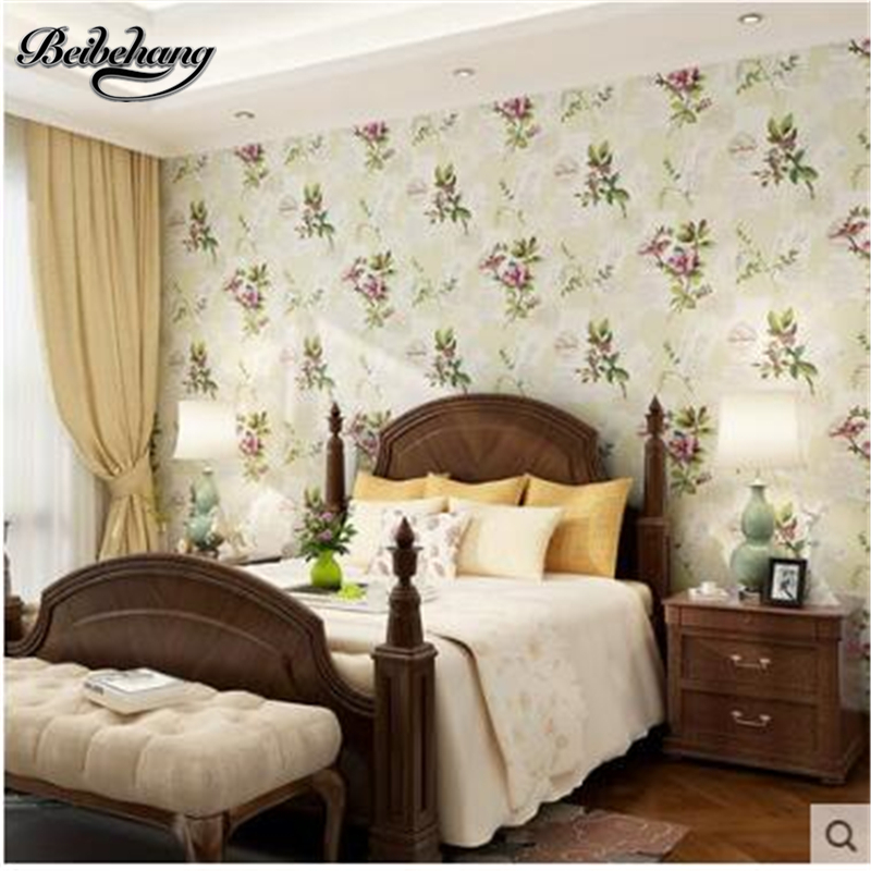 Beibehang papel de parede wallpaper green paper wallpaper pastoral style living room bedroom television background wall large ar large mural papel de parede european nostalgia abstract flower and bird wallpaper living room sofa tv wall bedroom 3d wallpaper