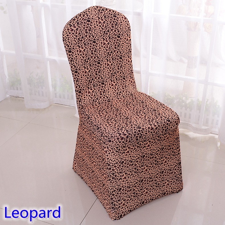Leopard Print Chair Cover Pattern Lycra Chair Cover For