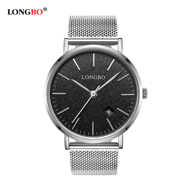 LONGBO Brand steel watch top luxury ultrathin gold quartz watches business wristwatch men dress clock relojes hombre 2016 5009