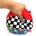 <+>  Детские игрушки мяч кольцо колокольчик Висячие хватая фитнес красочные ткани мяч детская кроватка кр ①